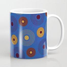 Blue Ankara Wax Pattern Coffee Mug