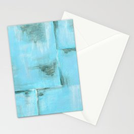Frost, Abstract Art Painting Stationery Cards