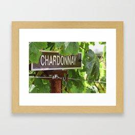 Chardonnay this Way, Napa Valley California Framed Art Print