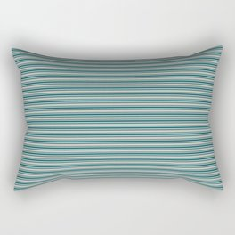 Benjamin Moore Beau Green Triple Horizontal Stripes on Color of the Year 2019 Metropolitan Rectangular Pillow