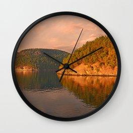 NOVEMBER SUNSET IN THE SAN JUAN ISLANDS Wall Clock