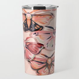 Pink Moths Travel Mug