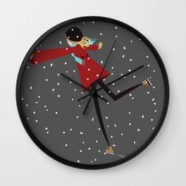 Ice Skate girl Wall Clock