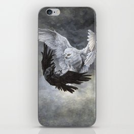 Yin Yang Owl and Raven iPhone Skin