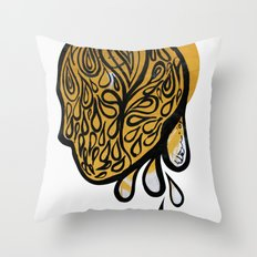 Drops fall Throw Pillow