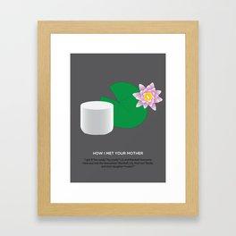 HIMYM Couples - Lily & Marshall Framed Art Print