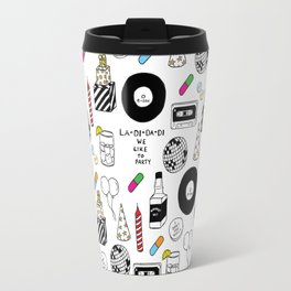 """La-Di-Da-Di"" Illustration Set Travel Mug"