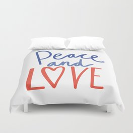 CHRISTMAS PEACE AND LOVE Duvet Cover
