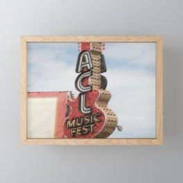 ACL Music Fest Framed Mini Art Print