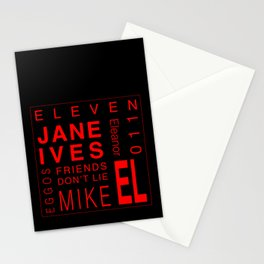 Eleven:Stranger Things Stationery Cards