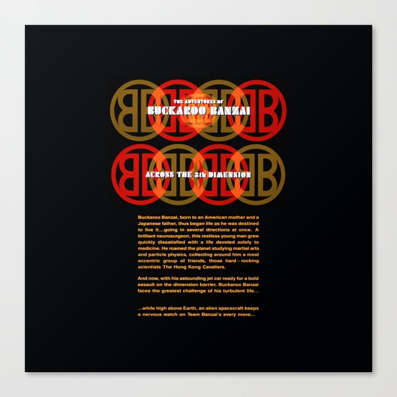 The Adventures Of Buckaroo Banzai Across The 8th D… Canvas Print by Funnyfaceart CNV8738589