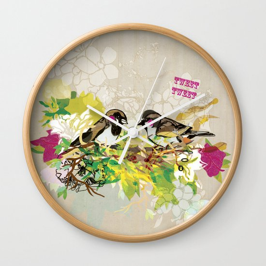 Tweet Tweet Wall Clock