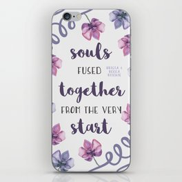 souls fused together from the very start iPhone Skin