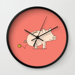 piggy bank Wall Clock
