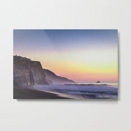 Scenic ocean sunset Metal Print