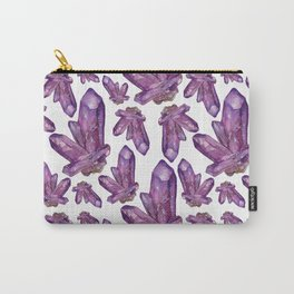 Amethyst Birthstone Watercolor Illustration Carry-All Pouch