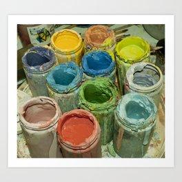 Paint Pots. Art Print