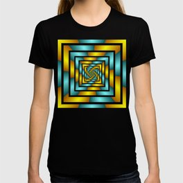 Colorful Tunnel 2 Digital Art Graphic T-shirt