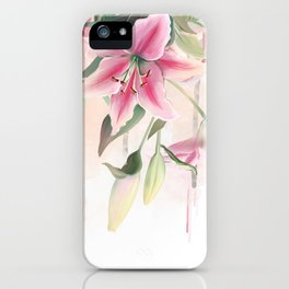 Blush lilium iPhone Case