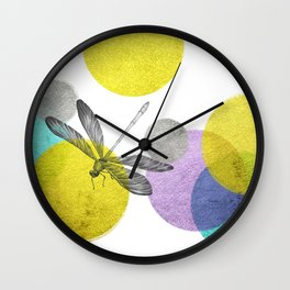 Dragonfly in paradise Wall Clock