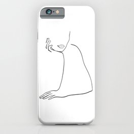 Woman Listening iPhone Case