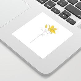 Mustard Lily Sticker