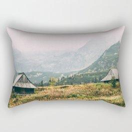 Hala Gasienicowa Autumn | Tatra Mountains Poland Rectangular Pillow