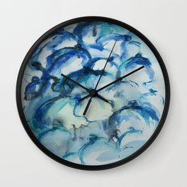 valley of lilies Wall Clock