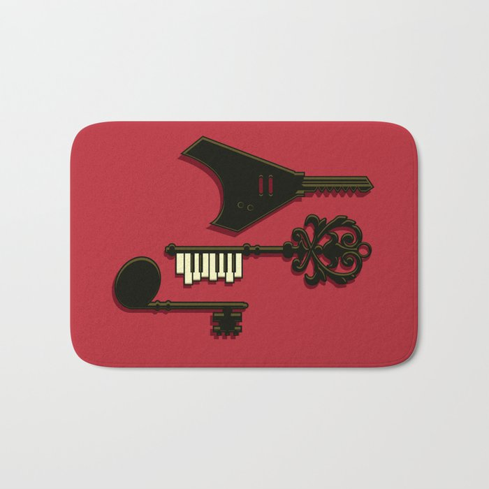 keys of musical Bath Mat