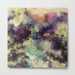 Contemporary Abstract Painting in Purple / Violet Color Metal Print