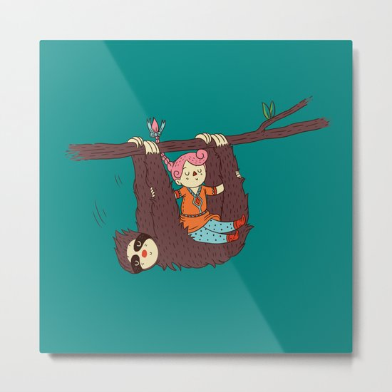 Sloth Swing Metal Print