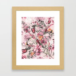 RPE FLORAL XI PINK Framed Art Print