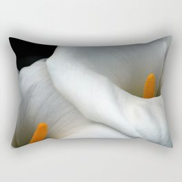 Two Calla Lily Flowers Together Rectangular Pillow