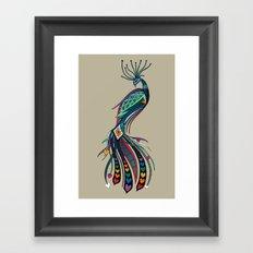 peacock rainbow love Framed Art Print