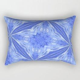 Splashing In Blue Rectangular Pillow