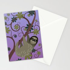 Sloth in a Tree Stationery Cards