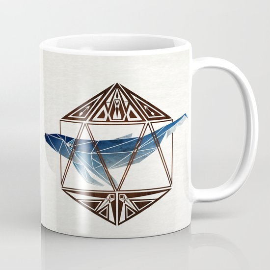 whale in the icosahedron Mug