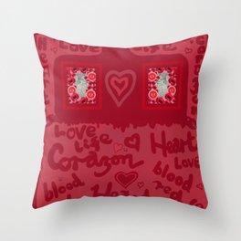 Heart Design Throw Pillow