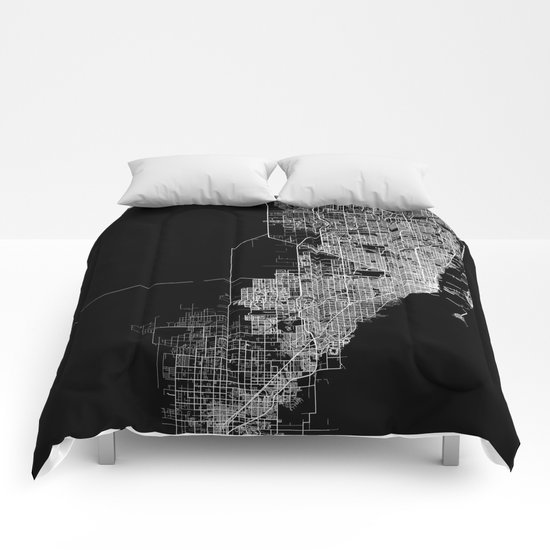 miami map Comforters