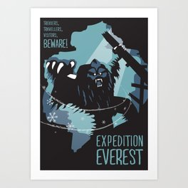Expedition Everest Attraction Poster Art Print