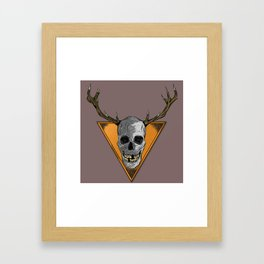 Skull Trophy Framed Art Print