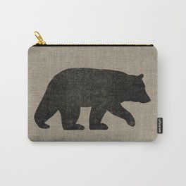Black Bear Silhouette Carry-All Pouch