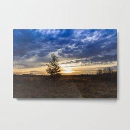 Sunrise at the fields Metal Print