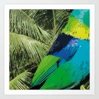 brasil Art Prints featuring Brasil Tropical by watermelon