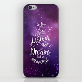 ACOMAF- To the Stars Who Listen And the Dreams that are Answered iPhone Skin