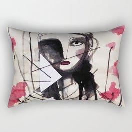 Frontal Roses Rectangular Pillow