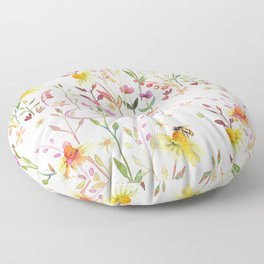 Watercolor Nature Floor Pillow