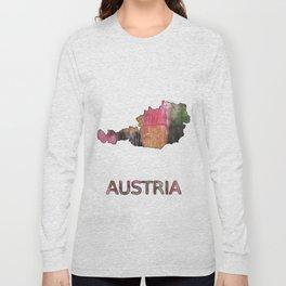 Austria map Long Sleeve T-shirt