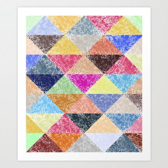Color texture, Geometric background #2 Art Print