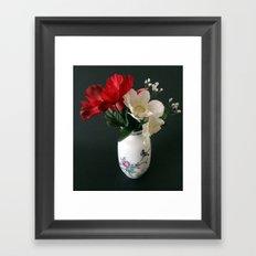 Flowers in a Chinese Vase Framed Art Print